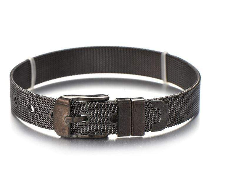 ClaudiaG Stainless Steel Slider Bracelet -Black