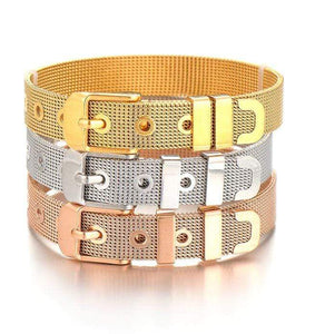 ClaudiaG Stainless Steel Slider Bracelet -Gold