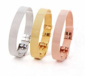 ClaudiaG Stainless Steel Slider Bracelet -Rose Gold