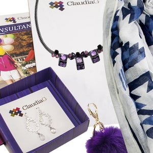 ClaudiaG Sweet Geo Necklace - Plum