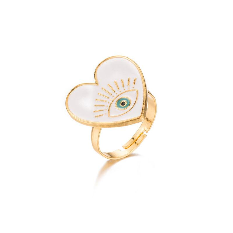 ClaudiaG White Heart Ring