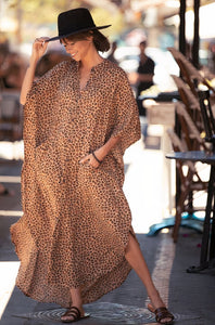 ClaudiaG Wide Dress -Cheetah