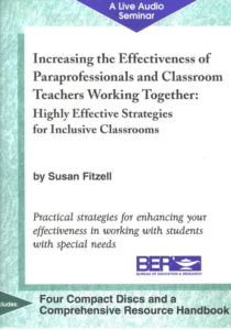 Increase the Effectiveness of Paraprofessionals and Teachers Working Together: Audio Program