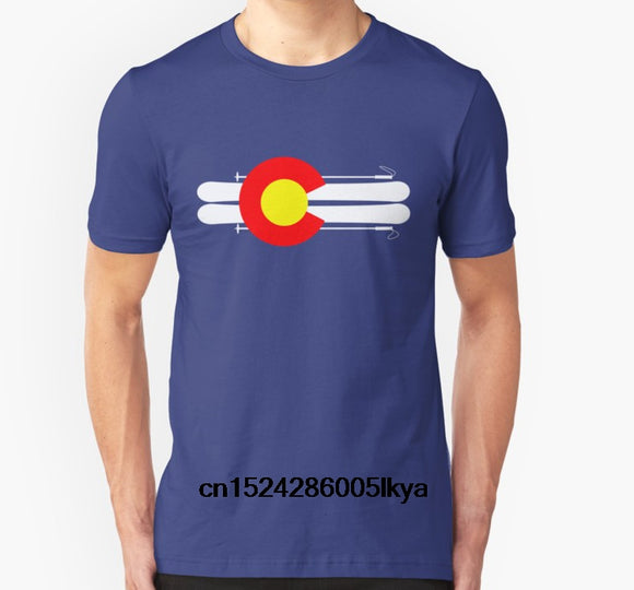 Colorado Pair of Skis T-Shirt Men and Women