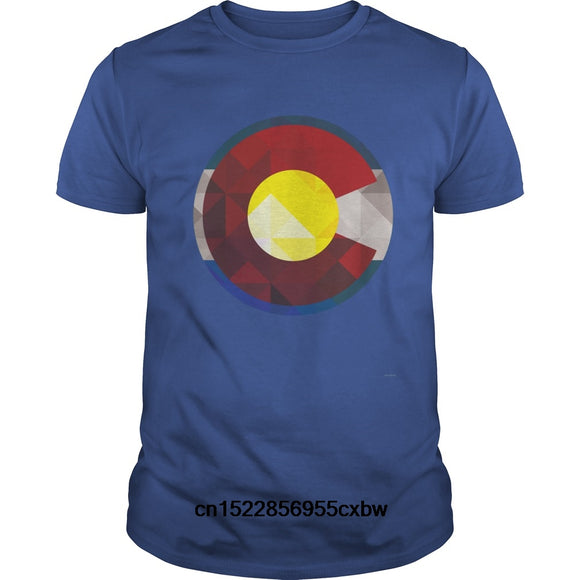 Colorado Flag Geometric T-Shirt Men and Women