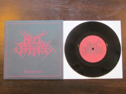 "Hell Darkness ‎""Heartfelt"" Black Vinyl 7"" (Lim to 400)"
