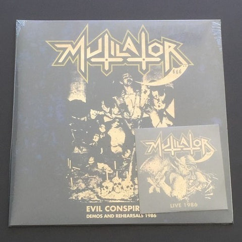 "Mutilator ""Evil Conspiracy Demos and Rehearsals 1986"" LP+CD"