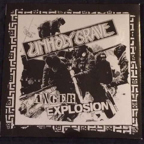 NunSlaughter / Unholy Grave Split Silver Cover 7""