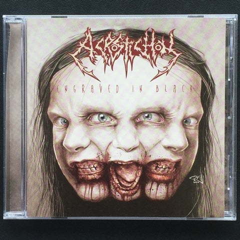 "Acrostichon ‎""Engraved In Black"" CD"