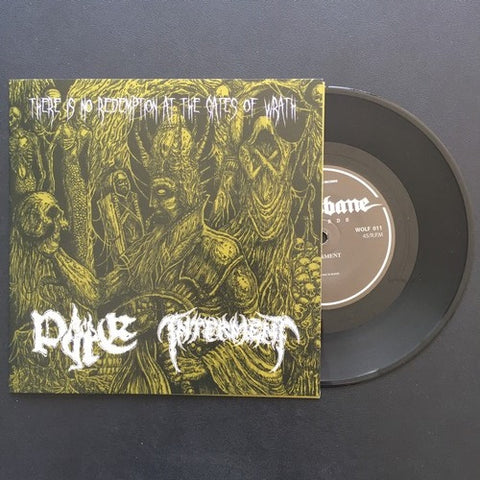 Interment / Pyre Split Black Vinyl 7""