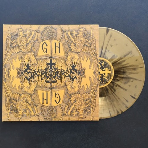 "Sacrocurse ""Gnostic Holocaust"" Gold Black Splatter Vinyl LP"