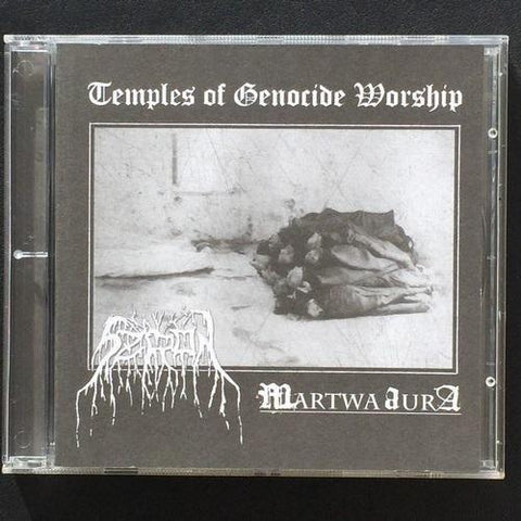 "Szron / Martwa Aura ""Temples of Genocide Worship"" Split CD"