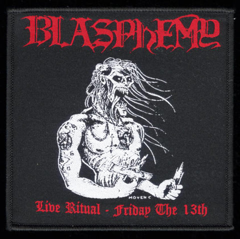 "Blasphemy ""Live Ritual - Friday The 13th"" 4"" Patch"