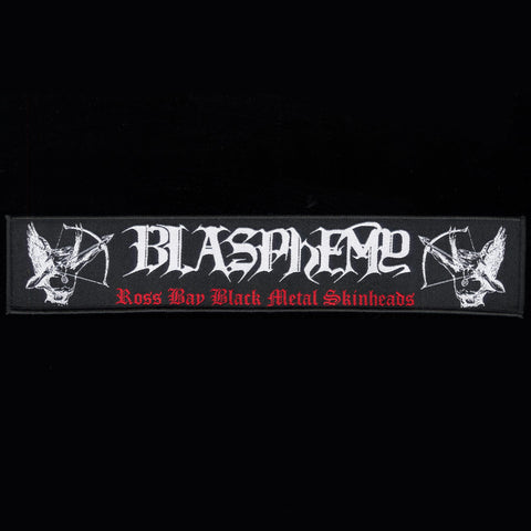 "Blasphemy ""Ross Bay Black Metal Skinheads"" 9"" Strip Patch"