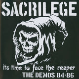 "Sacrilege ""It's Time to Face the Reaper Demos 84-86"" Black Vinyl Double LP"