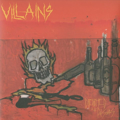 "Villains ""Drenched in the Poisos"" Die Hard Yellow Vinyl LP"