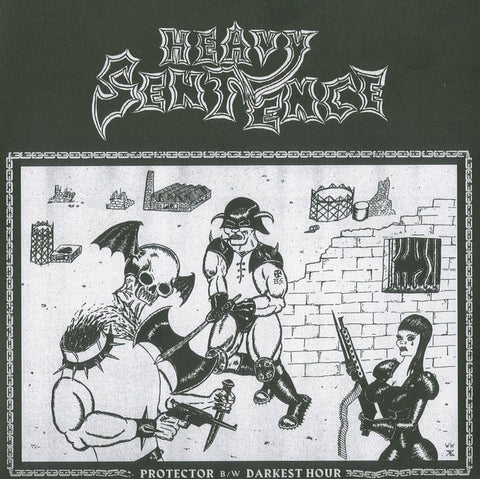 "Heavy Sentence ""Protector b/w The Darkest Hour"" White Vinyl 7"""