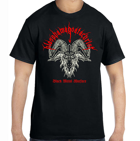 "Blasphamagoatachrist ""Black Metal Warfare"" TS"