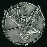 "Blasphemy ""Fallen Angel of Doom...."" 2"" Metal Pin"