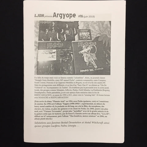 Argyope Zine #16 (Written in French)