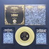 "Goatpenis / Defecrator ""Bloodpact in Cataclysmic Warfare"" Split 7″"