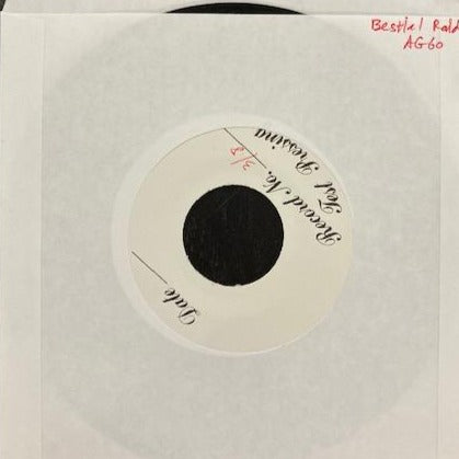 "Bestial Raids ""Order Of Doom"" Test Press 7"""