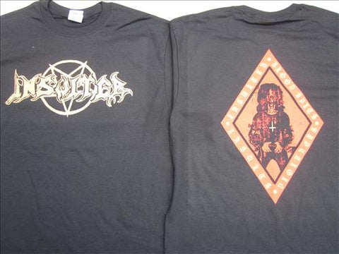 "Insulter ""Blood Spits, Violences and Insults"" Black TS S"