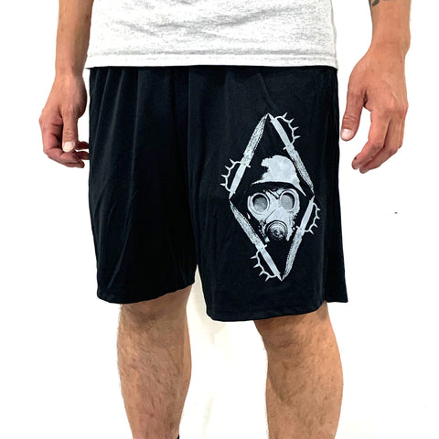 "NWN ""Gas Mask"" Gym Shorts"