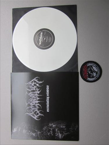"Escarnium ""Excruciating Existence"" White Vinyl LP + Patch"
