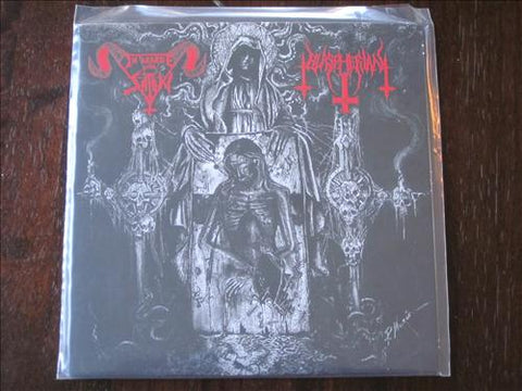 In League With Satan / Blaspherian Split 7""