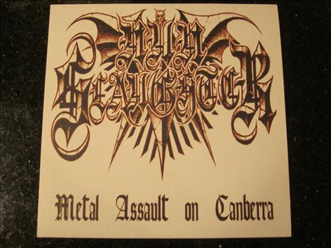 "Nun Slaughter ""Metal Assault on Canberra"" Black Vinyl 7"""