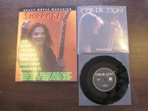 Snakepit Magazine #22 + Malediction Black Vinyl 7""
