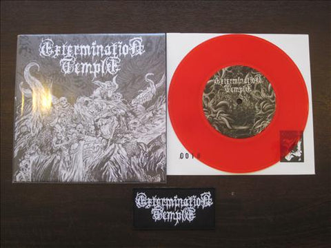 "Exermination Temple ""Lifeless Forms"" 7"" + Patch"