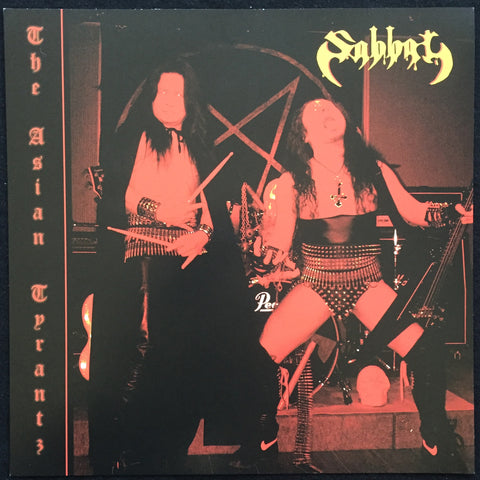 "Sabbat / Metalucifer ""The Asian Tyrantz / We're Still Metal Kids"" Split 7"""