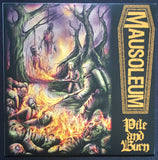 "Mausoleum / Offal ""Pile And Burn & Cadaverous Crawls to Putrefact"" 7''"