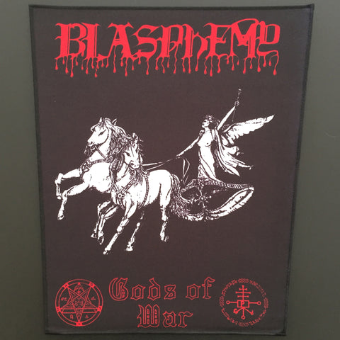 "Blasphemy ""Gods of War"" Black/White/Red Back Patch"