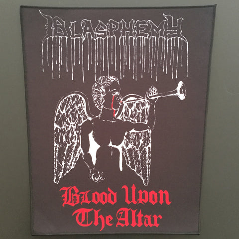 "Blasphemy ""Blood Upon the Altar"" Back Patch"