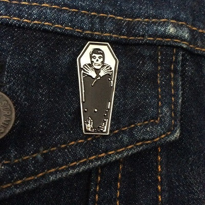 "Misfits ""Coffin"" Enamel Pin"