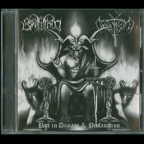 "Bahimiron / Teratism ""Pact in Dizease and Profanation"" Split CD"