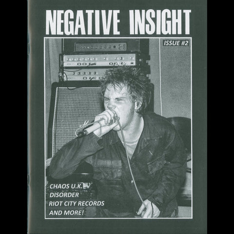 "Negative Insight Zine #2 + Chaos U.K. ""Studio Outtakes '81-'83"" 7"""