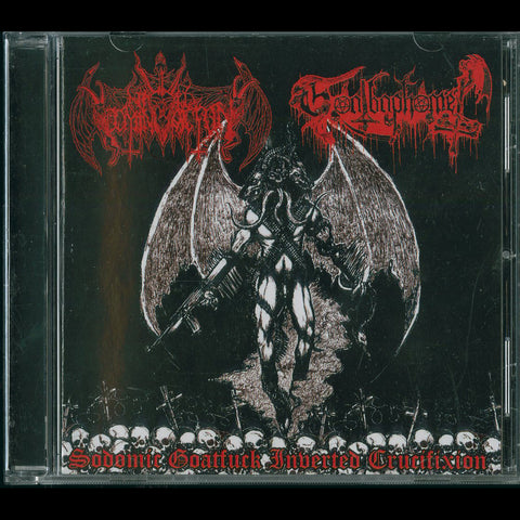 "Nihil Domination / Goatbaphomet ""Sodomic Goatfuck Inverted Crucifixion"" CD"