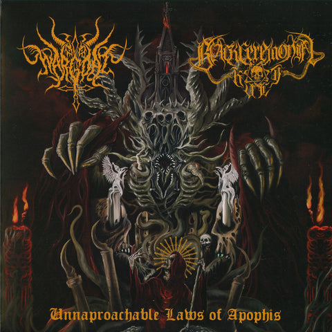 "Wargoat / Black Ceremonial Kult ""Unapproachable Laws of the Abyss"" Split LP"