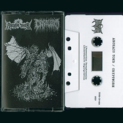 Archaic Tomb / Cryptworm Split MC