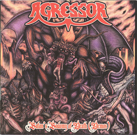 "Agressor ""Satan's Sodomy Of Death (Demos)"" CD (Highly recommended French deathrash!)"