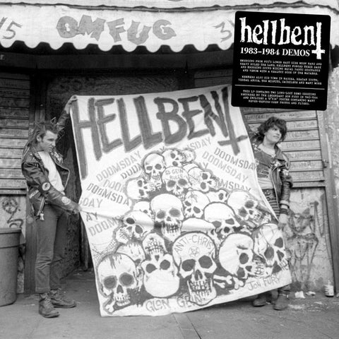 "Hellbent ""1983-1984 Demos"" Black Vinyl LP (Punk Metal)"