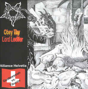 "Goat messiah / Tiburon ""Obey Thy Lord Lucifer/Under Air Attack"" Split 7''"