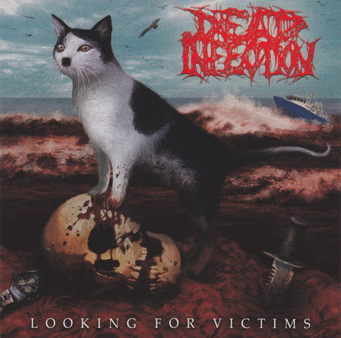 "Dead Infection/Parricide ""Looking For Victims"" Light Blue Vinyl 7"" Split"