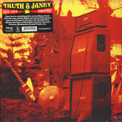 "Truth And Janey ""Erupts!"" Double LP (70's hard rock)"