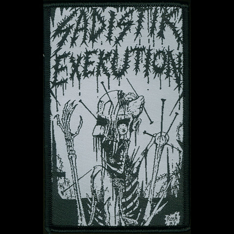 "Sadistik Exekution ""1987 Demo"" Patch (Black and White)"
