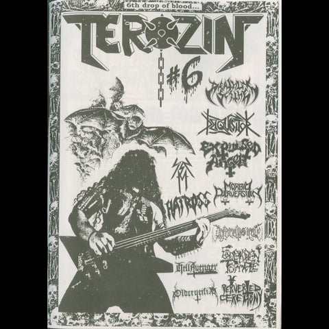 Terozin Zine #6 (Deathly Scythe, Perverted Ceremony, Forbidden Temple etc.)